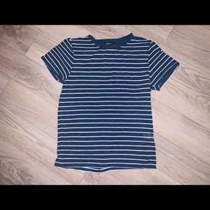 Navy blue striped tee